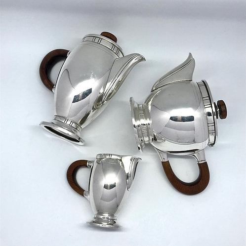 Service art déco en métal argenté Saglier Frères et Cie