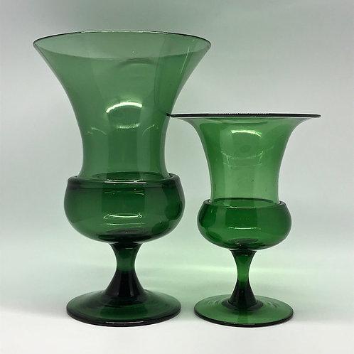 Vases en verre soufflé forme Médicis