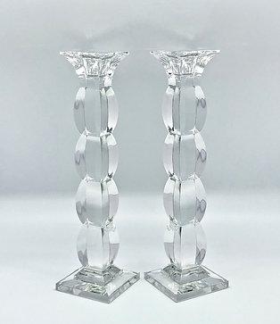 Bougeoirs en cristal