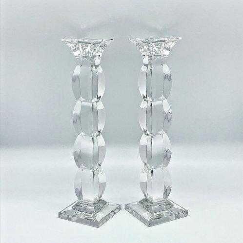 Paire de bougeoir en cristal vintage