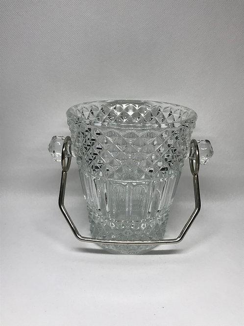 Seau à glaçons vintage en verre