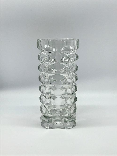 Vase en verre moulé pressé années 70