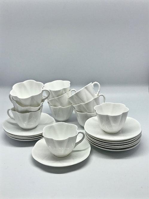 Tasses à thé Shelley - Dainty White