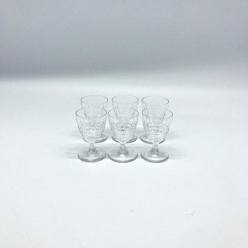 Verres à shot vintage en cristal taillé