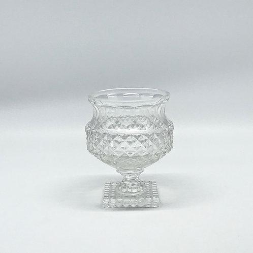 Vase Médicis vintage à motif pointe de diamant