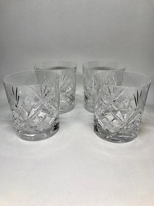 Verres à whisky vintage estampillés « cristal de Paris »