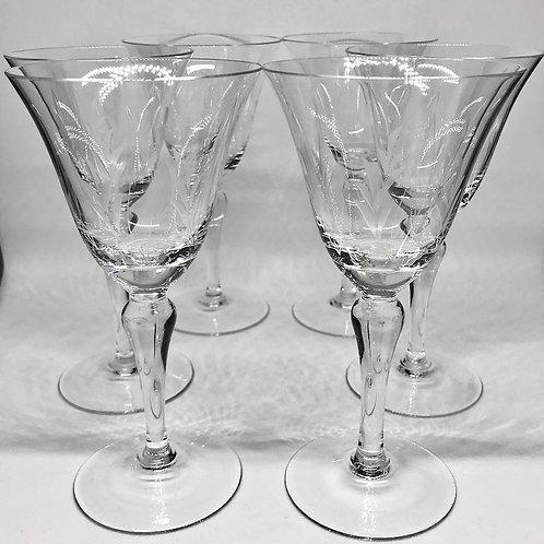 Verres à vin vintage en verre forme tulipe
