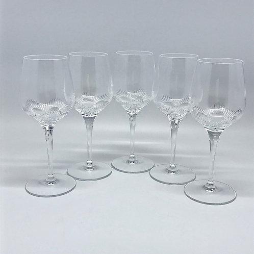 Verres à vin vintage en cristal  taillé
