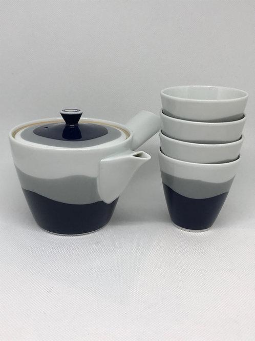 Théière vintage en porcelaine années 50