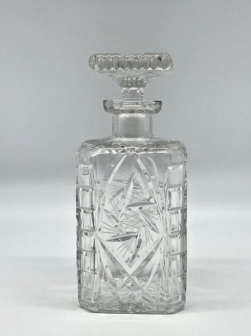Carafe à whisky vintage en cristal de Bohème