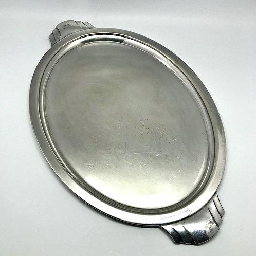 Plateau art déco en métal argenté