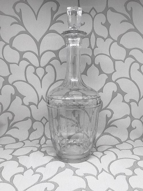 Carafe à vin en cristal taillé