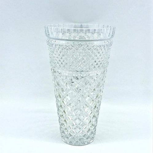Grand vase ancien en cristal taillé