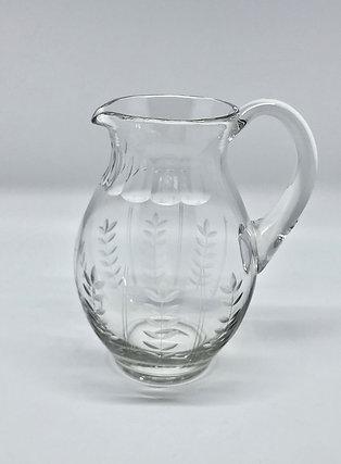 Pichet à eau en cristal taillé