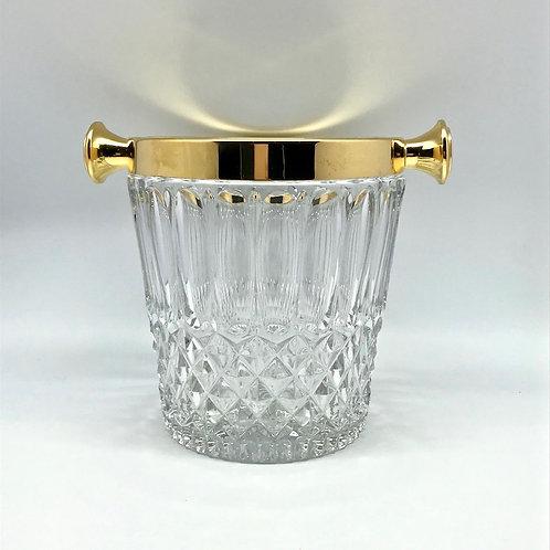 Seau à champagne en cristal moulé