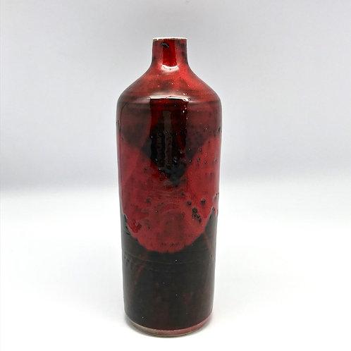 Bouteille en céramique émaillée sang de boeuf