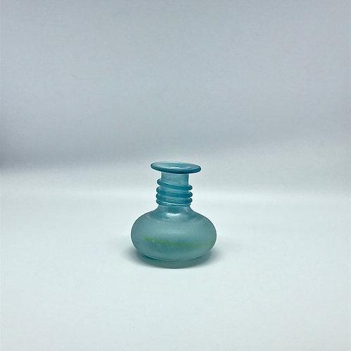 Vase en pâte de verre bleu Murano