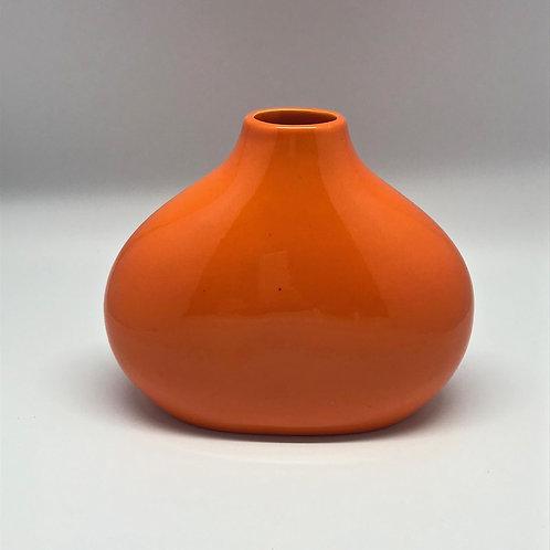 Vase orange années 70