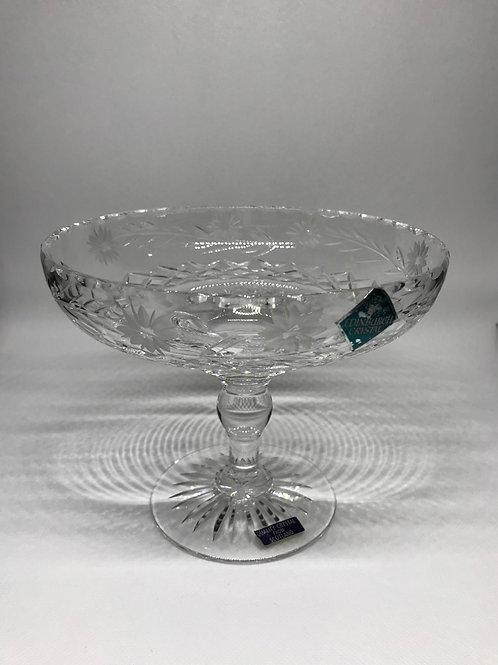 Coupe de présentation vintage en cristal d'Edimbourg