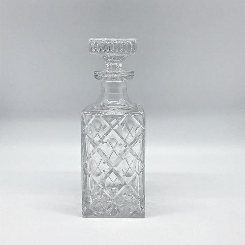 Carafe à whisky vintage en cristal taillé