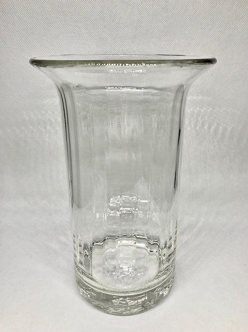 Vase vintage cylindrique transparent
