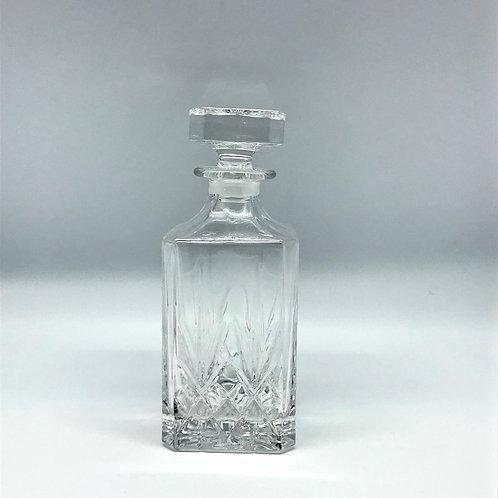 Carafe à whisky vintage en cristal moulé
