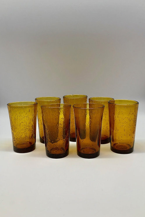 Verres à eau Biot, coloris ambre