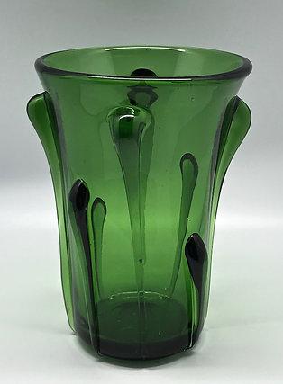 Vase vert en verre soufflé Empoli