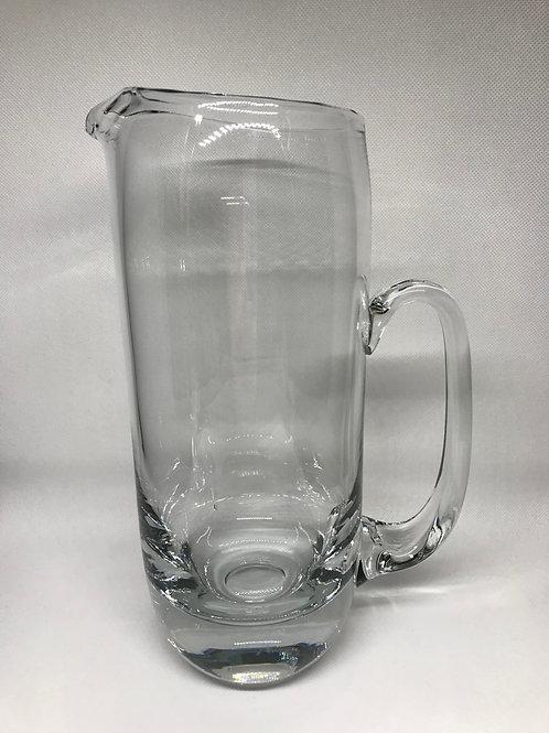 Pichet à eau vintage en cristal à fond épais