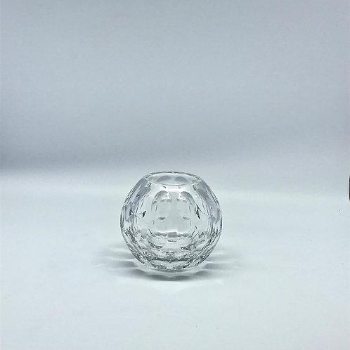 Petit vase boule en cristal vintage