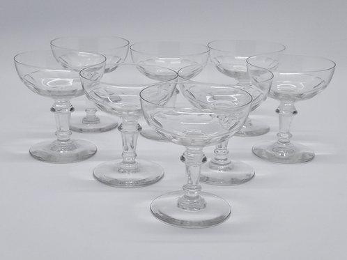 Coupes à Champagne vintage en verre soufflé