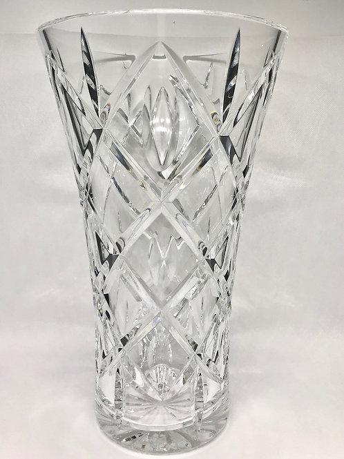 Vase évasé vintage en cristal taillé