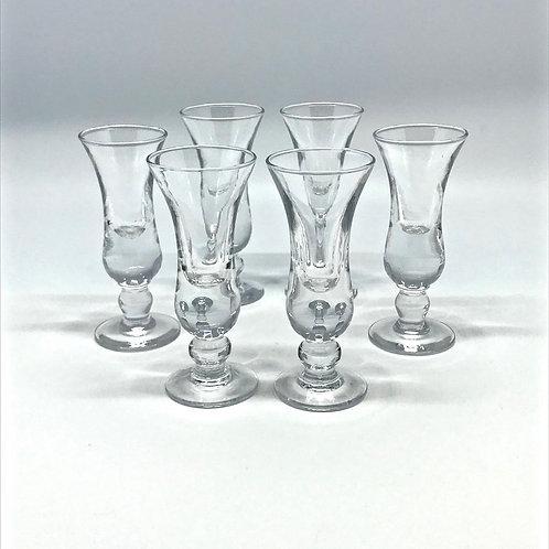 Verres à shot vintage en verre soufflé