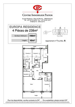 Europa Résidence 4 pièces 238 m2 A1