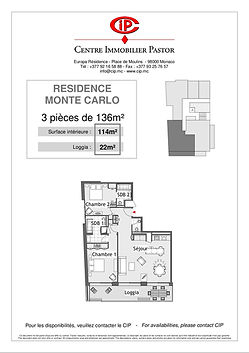 Residence Monte Carlo 3 pieces 136 m2 ty