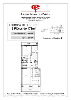 Europa Résidence 3 pièces 173 m2 B2