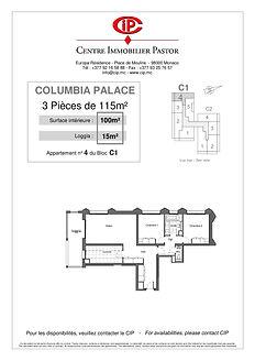 Columbia 3 pièces 115 m2 C1-4