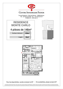 Residence Monte Carlo 4 pieces 146 m2 type 1