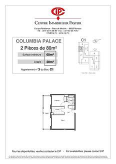 Columbia 2 pièces 80 m2 C1-3