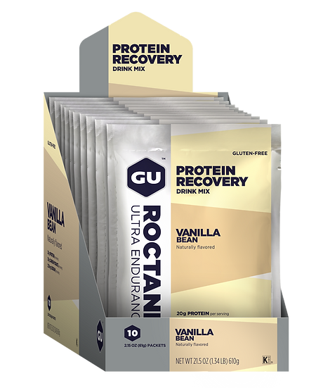 GU Roctane Protein Recovery Drink Sachets - Box of 10 Serve Single Sachets