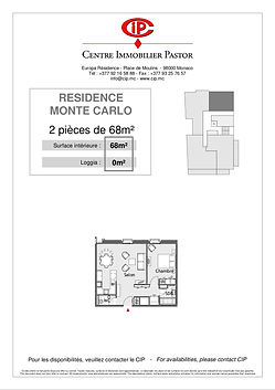 Residence Monte Carlo 2 pieces 68 m2 typ