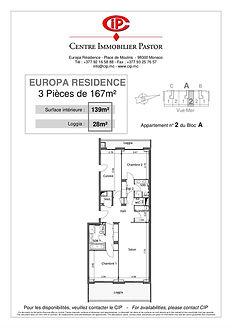 Europa Résidence 3 pièces 167 m2 A2