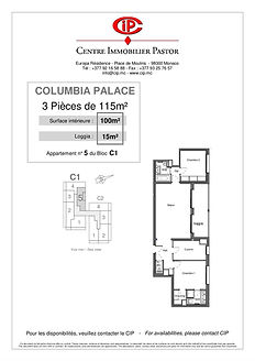 Columbia 3 pièces 115 m2 C1-5
