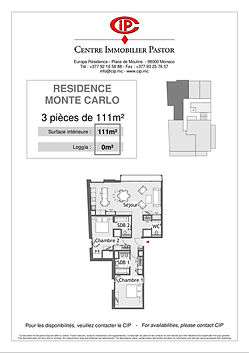 Residence Monte Carlo 3 pieces 111 m2 ty