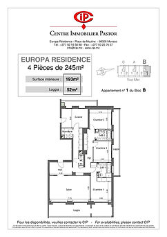 Europa Résidence 4 pièces 245 m2 B1
