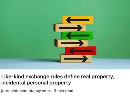 New regulations define 1031 exchange property.