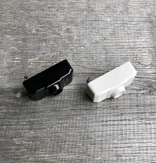 引っ掛けシーリング 黒(左)白(右)