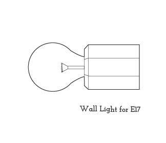 E17用 壁付けライト