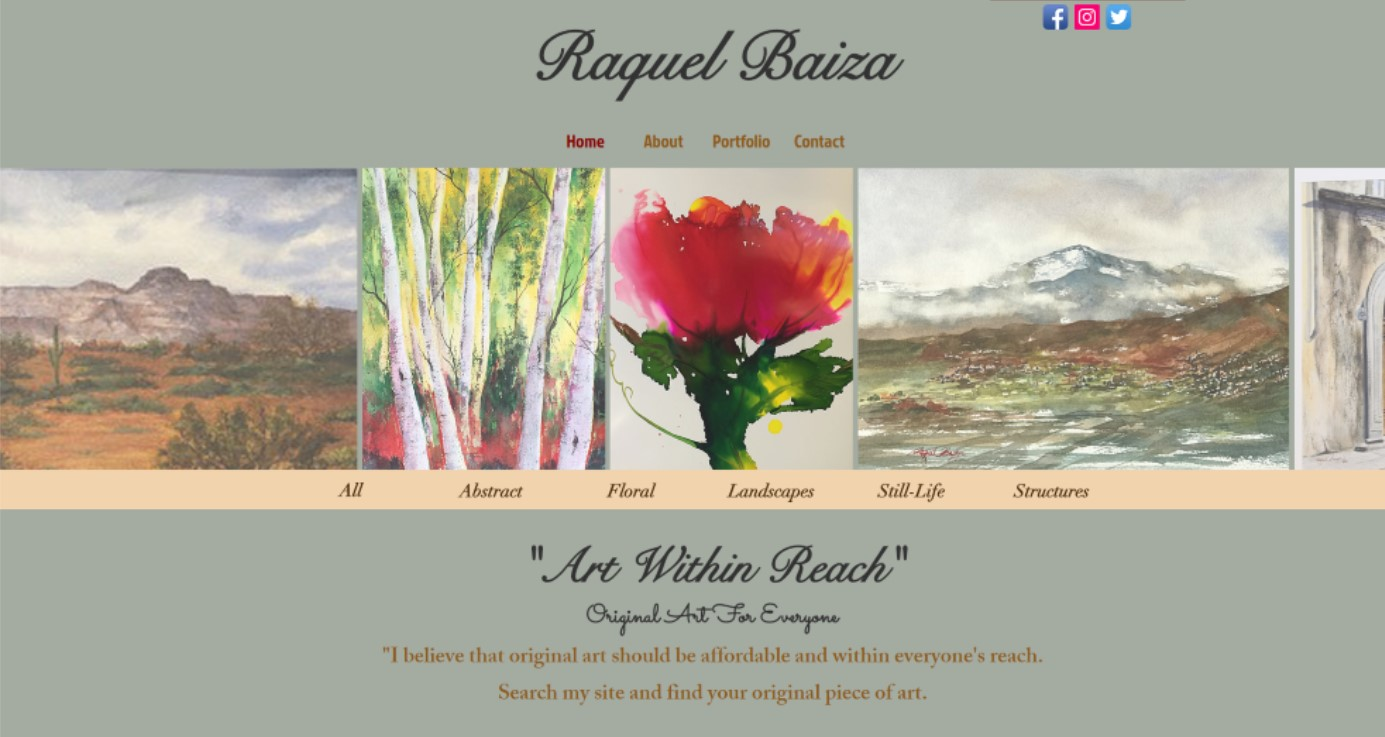 Rachel Baiza Website