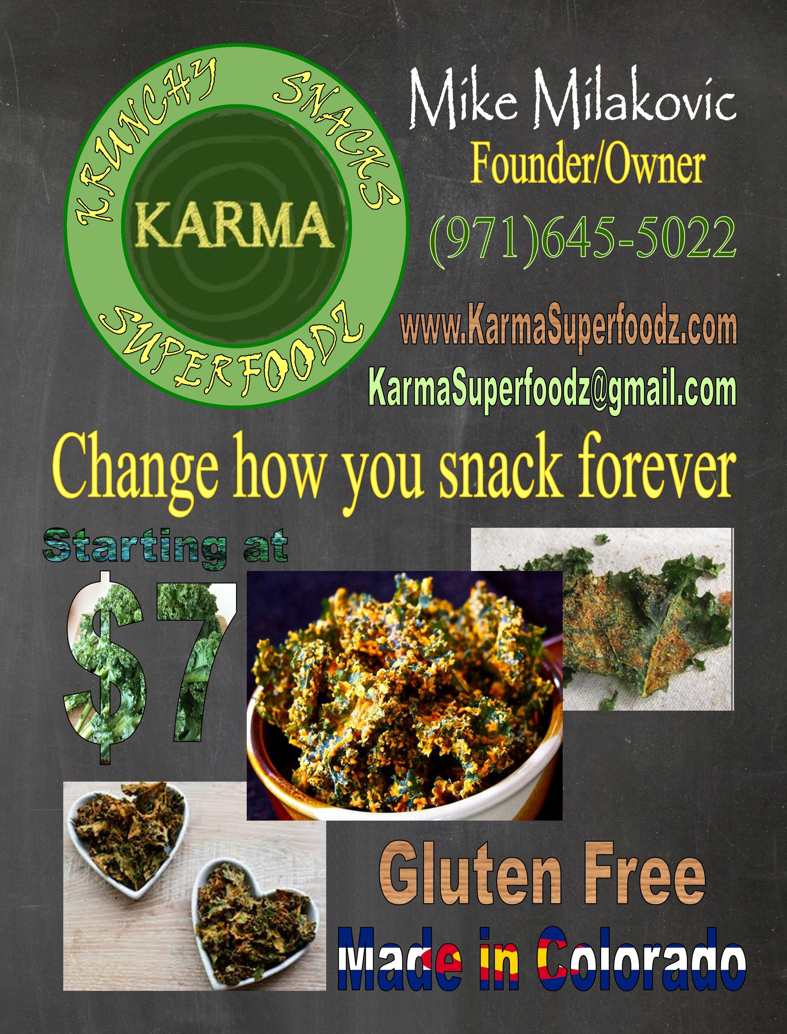Karma Kulture Kale Chips Poster